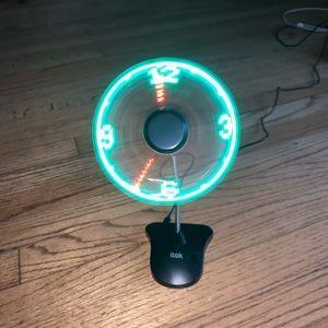 I TEK , clock fan